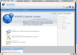 Centre de contrôle Xoops