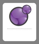Xoops badge mauve 134x150