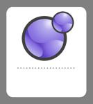 Xoops badge violet 134x150