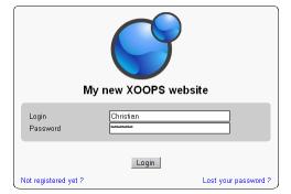 Login Xoops 2.3
